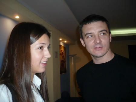 """Елена Шепелева, журналист """"Города N"""" и Андрей Карасёв, владелец ной компании """"Казак-фильм"""""""