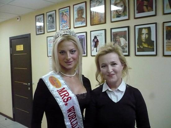 «Миссис мира» Вика Радочинская и журналист Галина Пилипенко