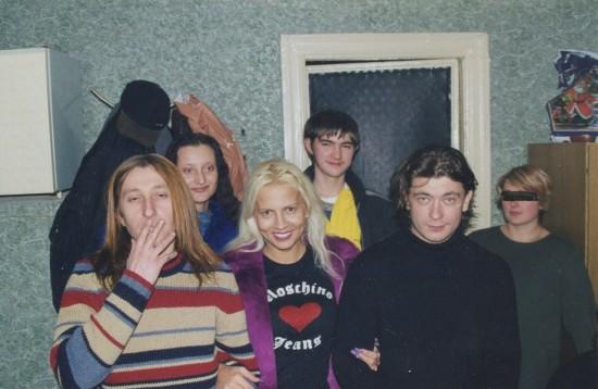 БИ 2 в Ростове. Шура, Оля Полуянова, Дмитрий Посиделов, Лева БИ 2. и ростовчанка, которой кто-то замазал глаза зачем-то