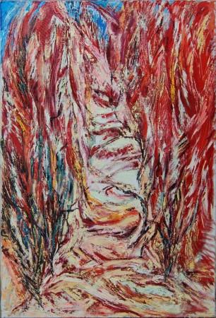 «Аллея Сутина». Холст, масло. 140х95, 2008. Коллекция Музей актуального искусства ART4.RU (Москва).