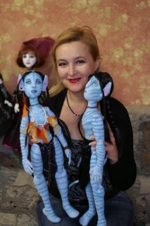 Галина Пилипенко аыграла в аватар-куклы. Фото: Елена Махова