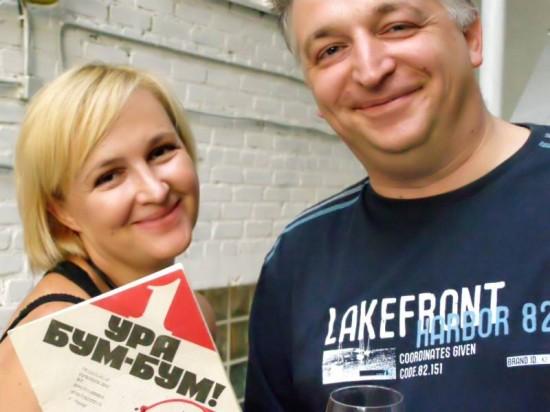 Галина Пилипенко (я) и автор журнала УРА БУМ БУМ. Фото Игоря Ваганова