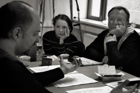 Кирилл Серебренников,Чулпан Хаматова, Сергей Шакуров. Фото: Jiucy Presto