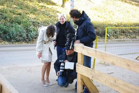 С камерой – Эдик Ильин, блондинка за его спиной – Ангелина Никонова (Федосеенко)