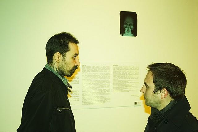 """Два художника - слева - Саша """"Китаец"""" Селиванов, справа - Андрюша """"Sтарый"""" Ковязин."""
