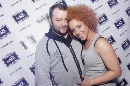 Сергей с женой - Тиной Чарльз