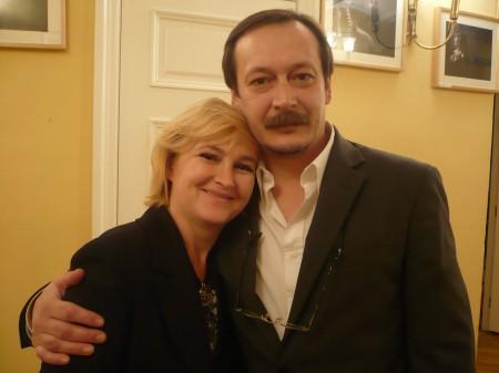 Я - Галина Пилипенко - слева с актёром Владом Ветровым