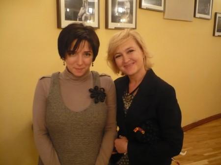 Тележурналист компании НТВ Катя Гордеева и Галина Пилипенко