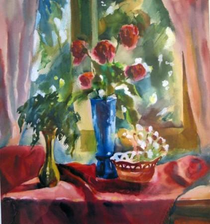 "Александра Волкова. ""Букет роз"", 53 Х 60, 2004г; 5000руб"