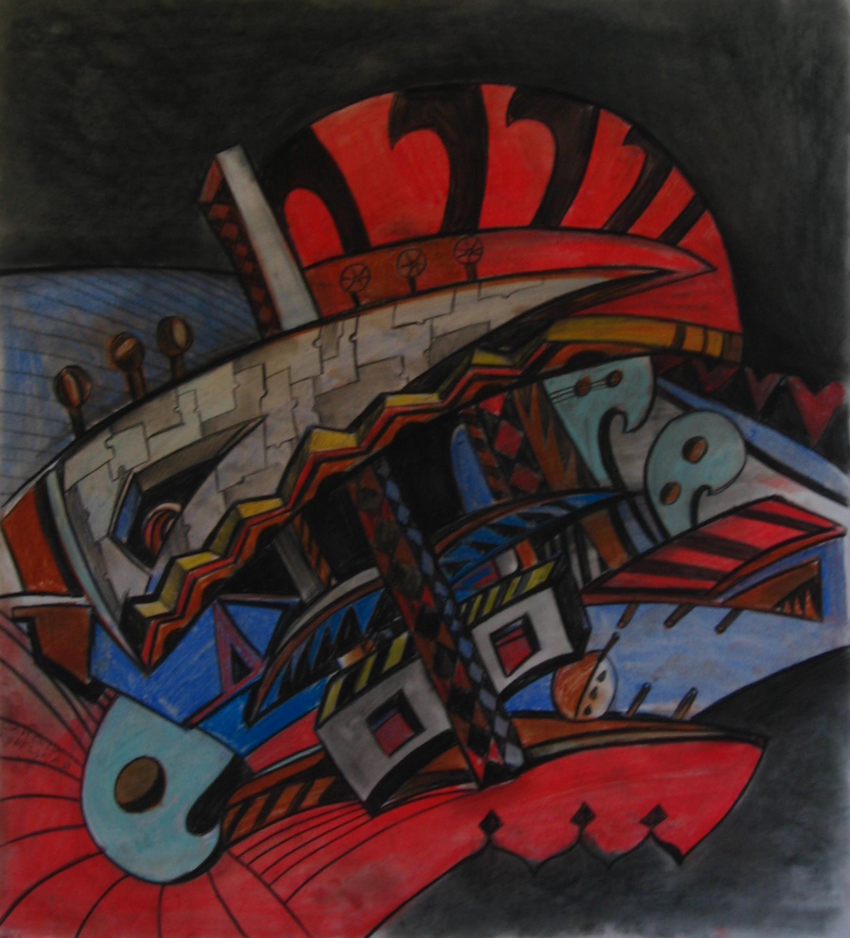 Сандра Корецкая.Притча о наших снах, размер 45х55 см., 2010, кар., пастель, 5000 рублей