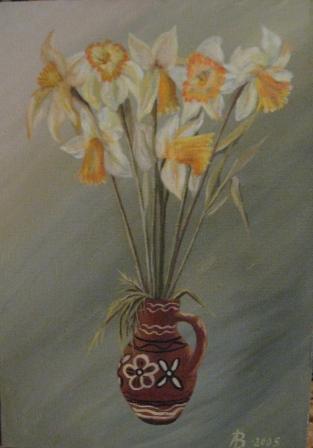 Александра Вольвич. Букет 35x50-х.м.-2005г-3 000руб.