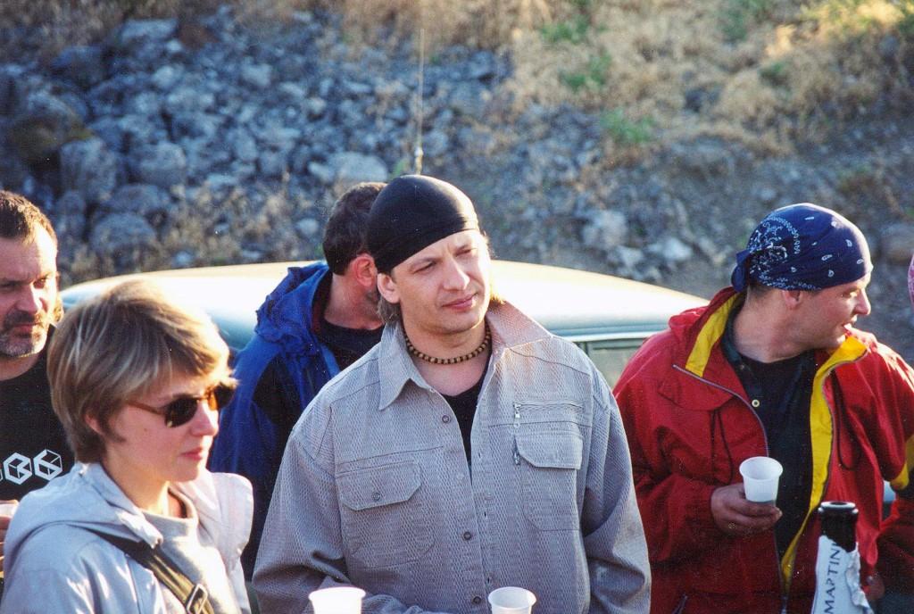 Сергей Мокрицкий, Саша Васнецова (второй режиссёр), Анатолий Марьянов и брат его - начальник пиротехников