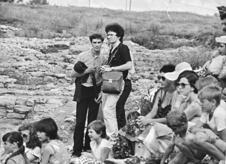 Тима и Леха Евтушенко на одном из Пушкинских праздников в Танаисе, середина 1980-х