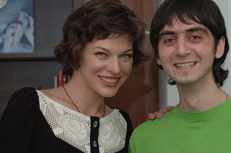 Мила Йовович и Георгий Нерсесов