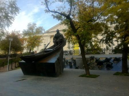 Памятник Шолохову в Москве. Фото Эльвиры Могилевской