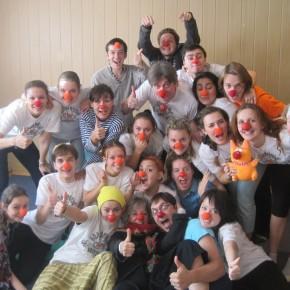 На тренинг приехали больничные клоуны из Москвы, Санкт-Петербурга, Ростова-на-Дону и Казани