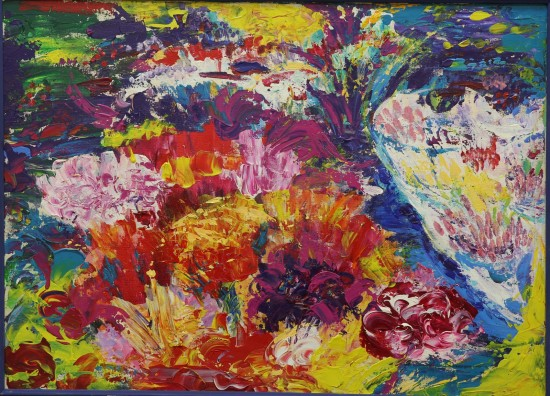 Анна Астахова. Бульвар Сан-Мартин. Цветочная лавка. 50х70,2008