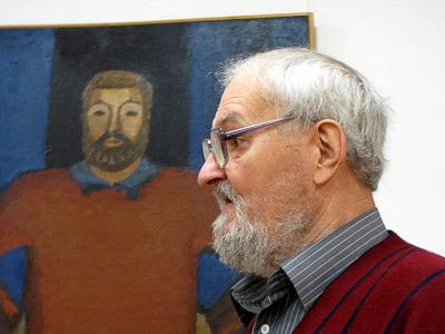 Искусствовед Валерий Рязанов - портрет и оригинал. Фото сайта Веры Волошиновой