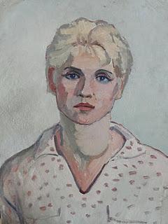 Тимофей Теряев. Женский портрет к.,м. 48х69, 30 тысяч рублей