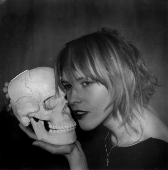 Художница Светлана Песецкая с другом. Фото: А. Кисляков.1995 год