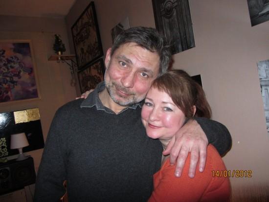 Cовладелец бистро Виталий Сорокин и Люся Андрейченко