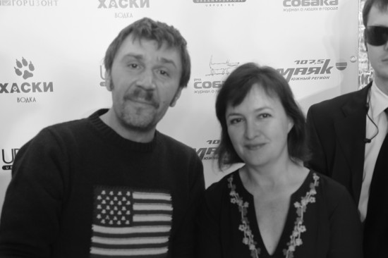 Cергей Шнуров и журналист Галина Пилипенко