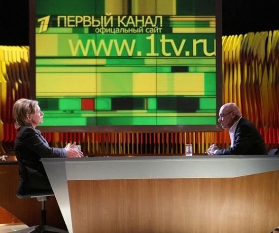 Владимир Познер берёт интервью у Хиллари Клинтон