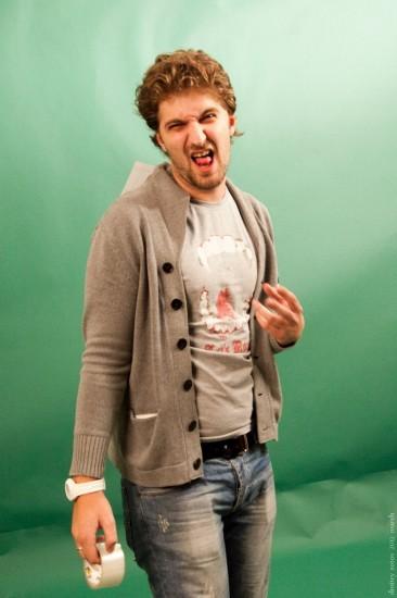 Илья Костинкин на съемках рекламного ролика. Фото: Дмитрий Зотов