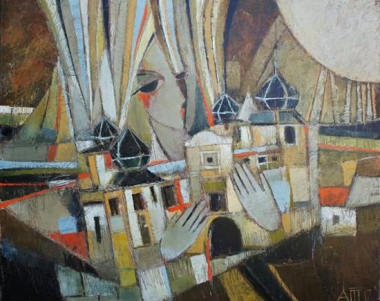 Castle Brunovce / 80x100cm / canvas, oil