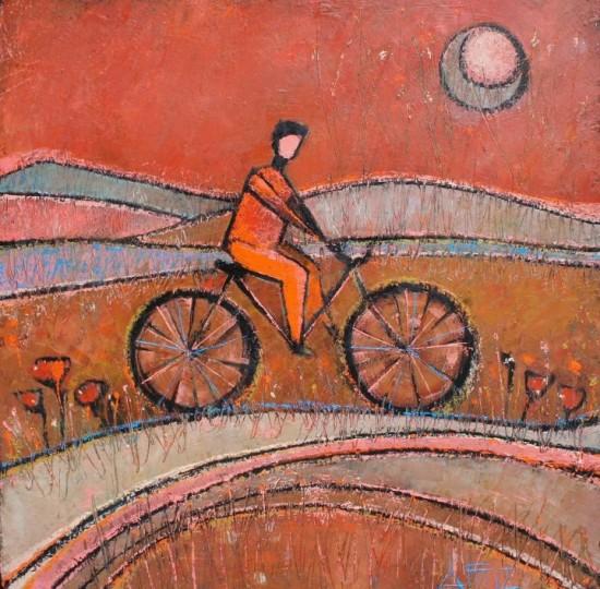 Anna Tarasenko  Bike1/ 60x60cm / canvas, oil