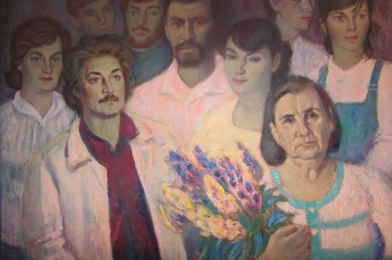 Художник Владимир Клёнов изобразил человека искусства, председателя Союза Художников Валентина Щебланова