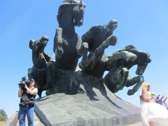 Сегодня снимали международный съезд байкеров в Ростове-на-Дону