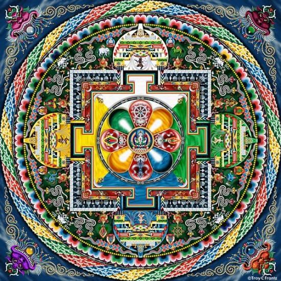 «Жемчужина Тибета – МАНДАЛА Авалокитешвары, дарующая сострадание, здоровье, любовь и удачу»
