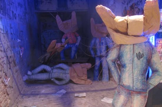 """Фестиваль уличного искусства """"Макаронная фабрика"""". Тагарог быкующий. Экспозиция Светы Песецкой и Вики Барвенко"""