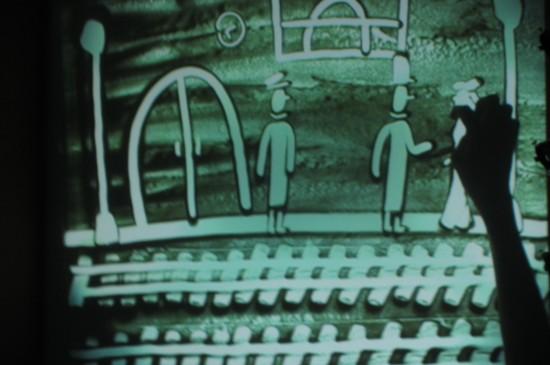 «100 лет Российской анимации!». Песочное рукотворение Алексея Кулешова