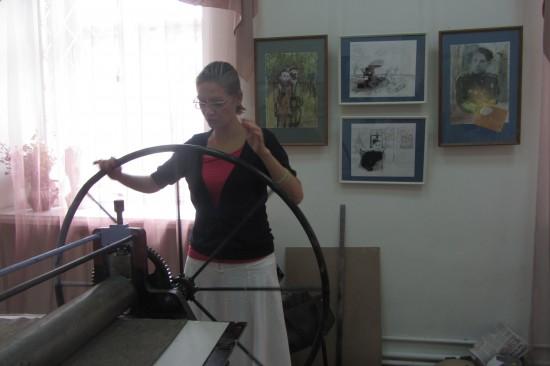 Музей  ИЗО.Линотипическое колесо