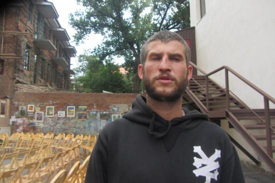 Участник марафона - поэт и рэппер Егор Псих