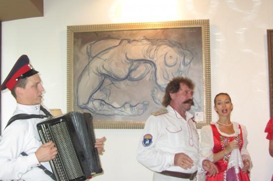 В частной галерее ростовского художника Николая Полюшенко