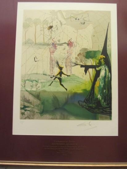 """Сальвадор Дали и Пабло Пикассо. Выставка называется """"Рапсодия страсти""""."""