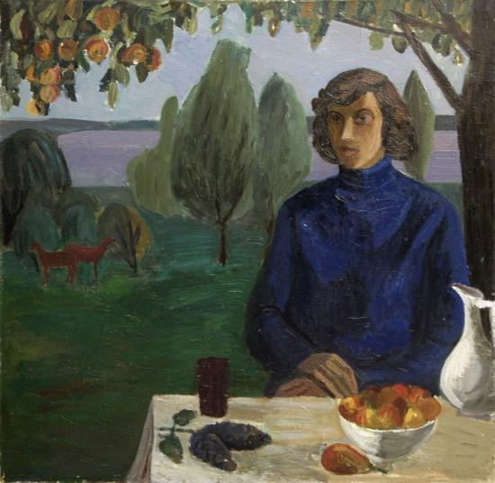 Соколенко М.Е. Портрет Леонида Кабарухина Х., м. 1975.