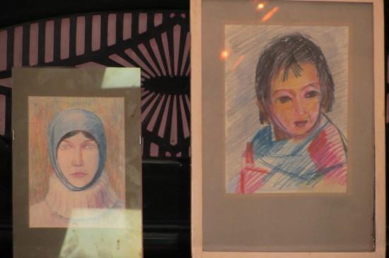 Портрет Ирины Гуржиевой и Егора - сына художника