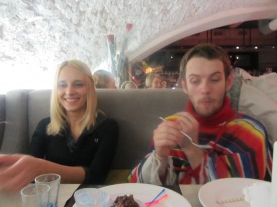 Девушка и Ваня Мирошниченко, художник. День варенья  Анны Тарасенко  2012 год. Ростов