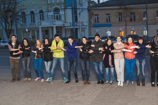 в Ростове прошел танцевальный флешмоб