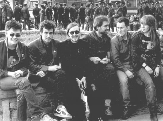 Справа налево - Янка, Сергей Фирсов и ГО