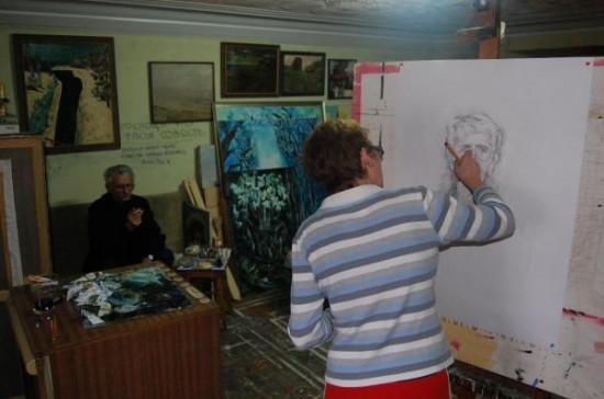 В мастерской у Натальи Дурицкой. Таганрог, 2012 г.