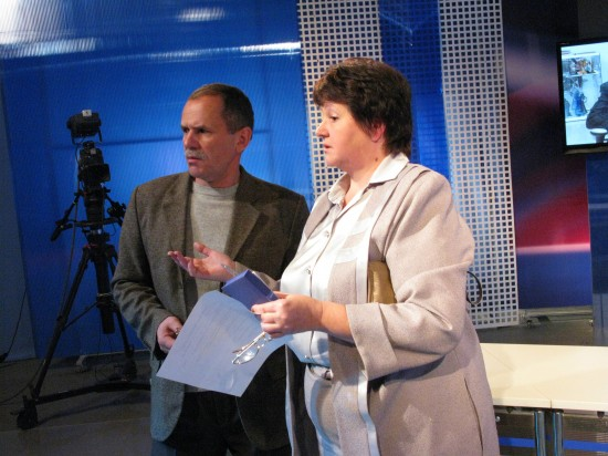Оператор Леонид Ковалевский и главный режиссёр Нина Парфёнова