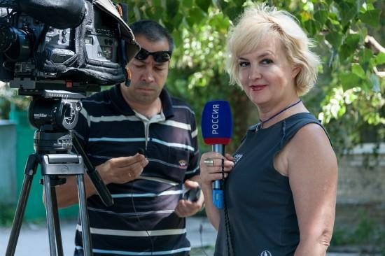 Марат Терновой, оператор, я - корреспондент Галина Пилипенко. Фото:  Николай Тоцкий