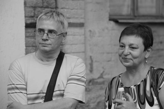 Драматург Сергей Артурович Медведев с супругой - Юлией Быковой