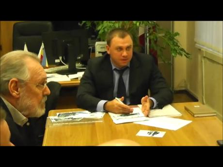 Анатолий Скнарин и глава Кировского района
