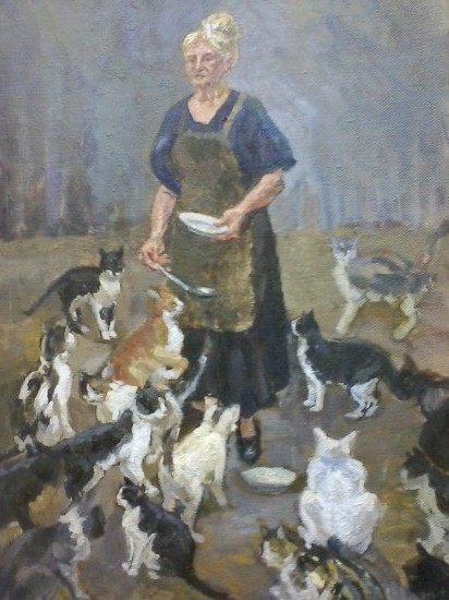 "Софья Рычанова. ""Эвелина Аристарховна"". 1989 год. Холст, масло, 50Х70"